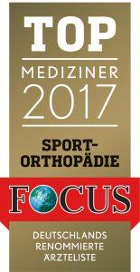 Top Mediziner 2017 Sportorthopäde Dr. Christian Schneider