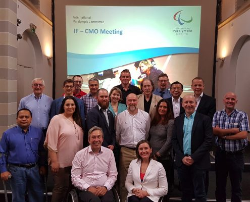 Dr. Schneider beim international paralympic committee meeting