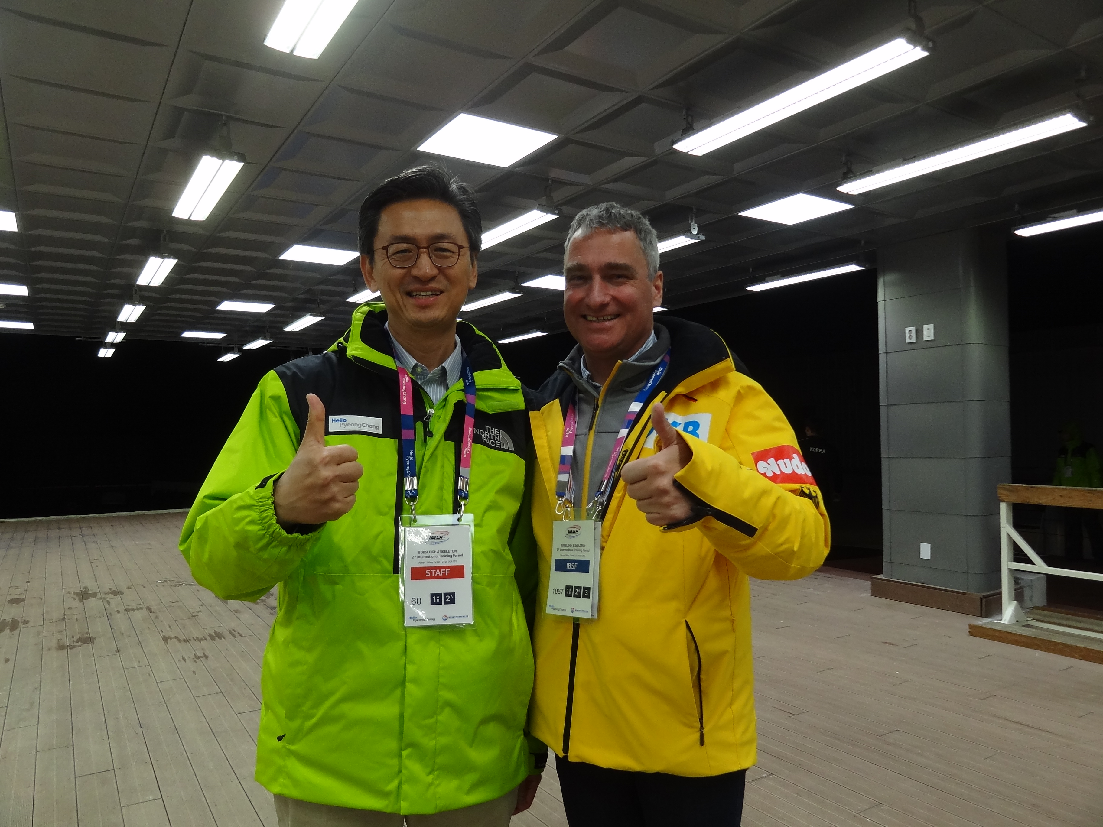 Dr. Schneider mit Prof. Jung Venue in PyeongChang